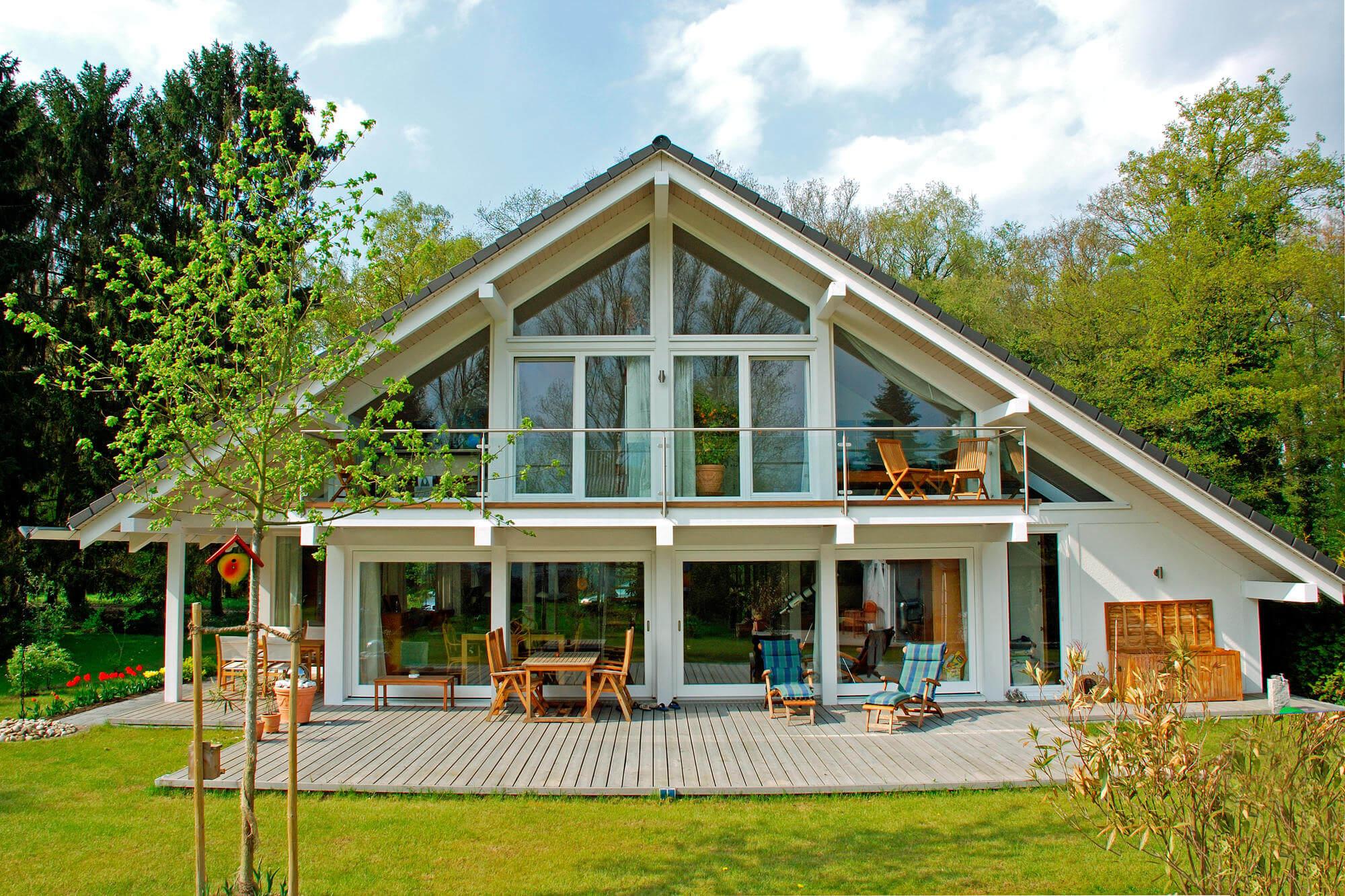 Fachwerk Fertighaus modern Holzskeletthaus - KD Haus